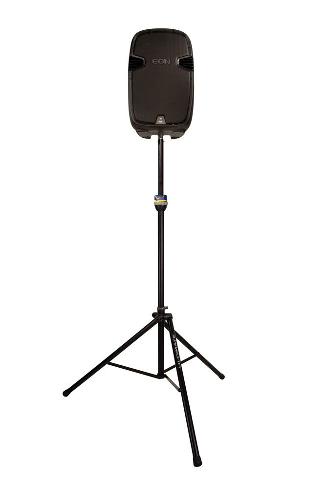 Lift-Assist Aluminum Speaker Stand With Integrated Speaker Adapter