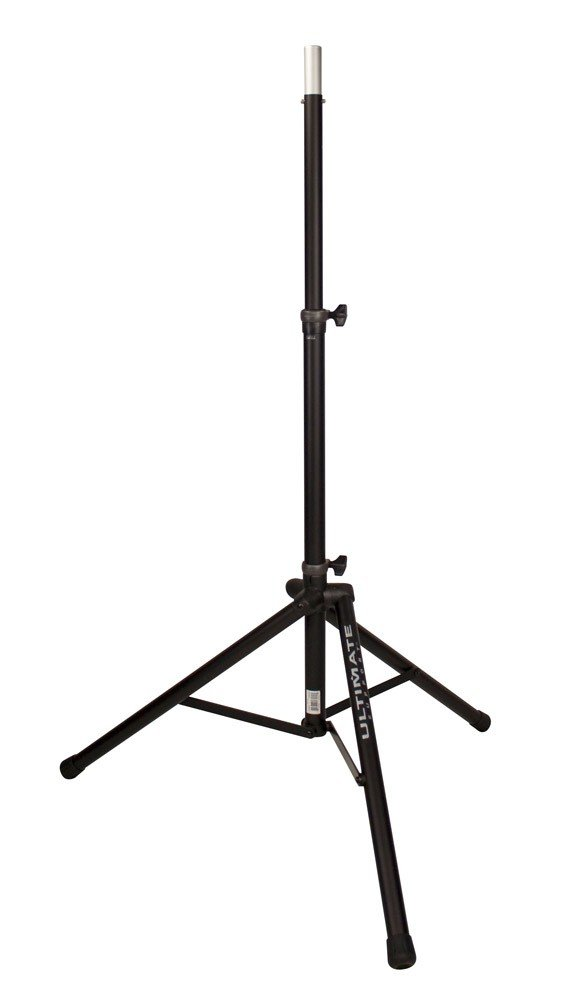 Aluminum Tripod Speaker Stand In Black With Integrated Speaker Adapter