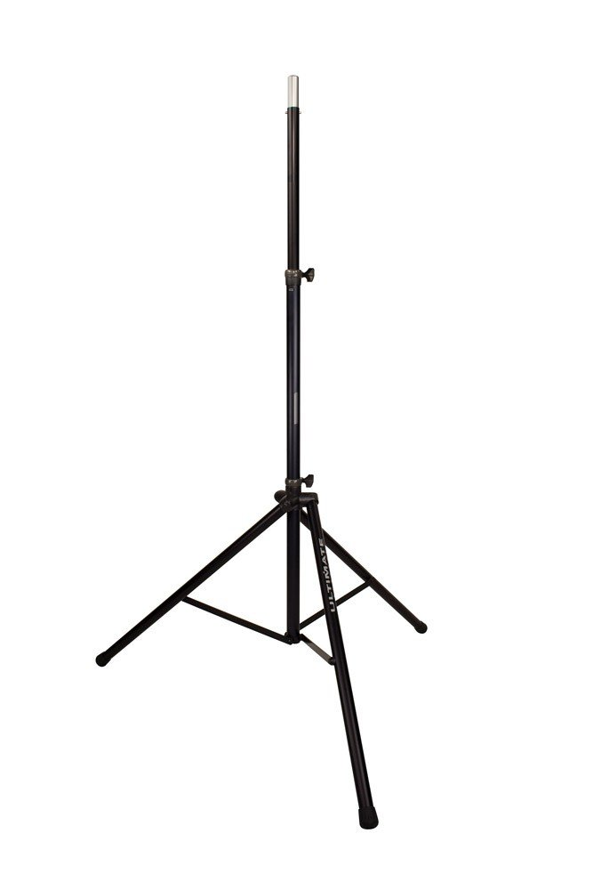 Aluminum Tripod Speaker Stand With Integrated Speaker Adapter And Extra Tall Height, Black