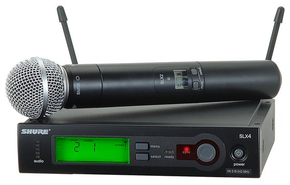 Wireless Microphone System with SLX2/SM58 Handheld Mic/Transmitter