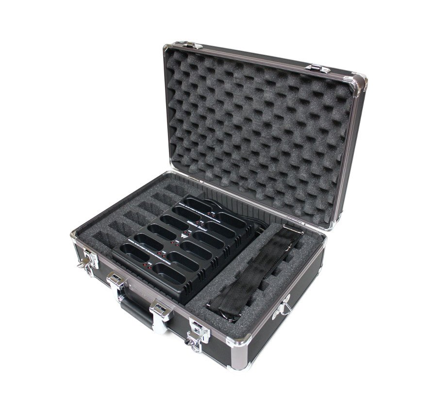 FM Receiver Kit With Earphones, Batteries And Charger With Case