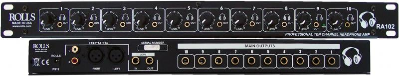 10-Channel Headphone Amplifier
