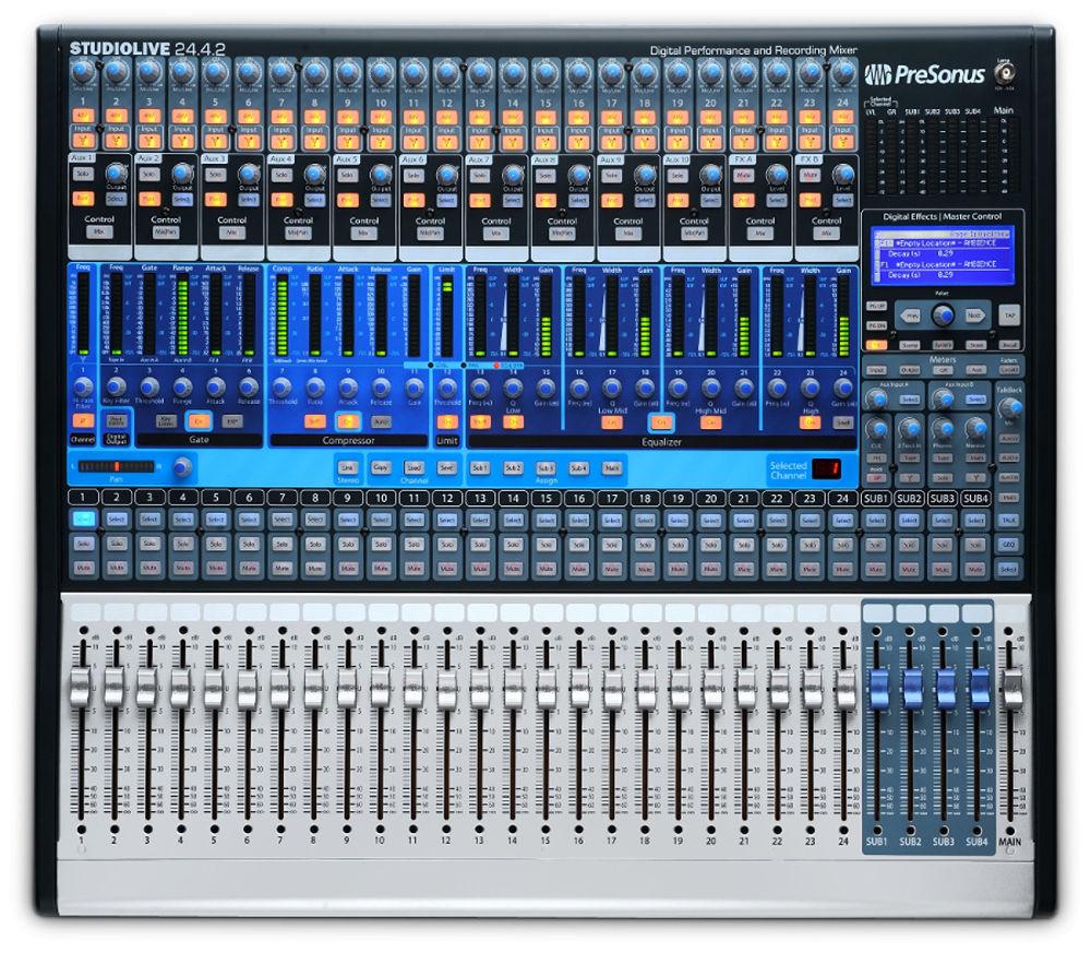 Digital Mixer, 24 x 4 x 2