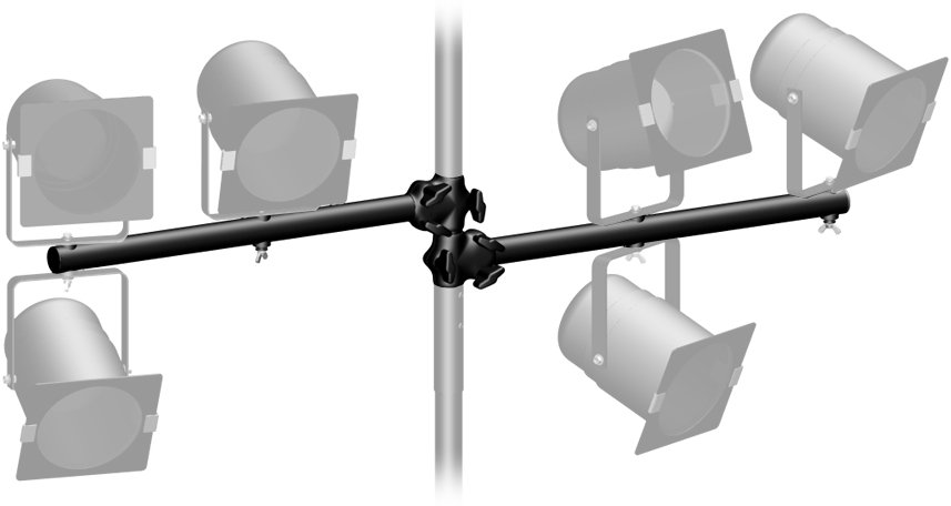 Pair of 2ft Crossbars for Lighting Tree