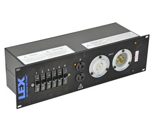 3RU Rack Mount Power Distribution Module, L21-30 In/Thru to powerCON