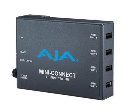 Control AJA Mini-Converters Via Ethernet, 4-Port USB Converter