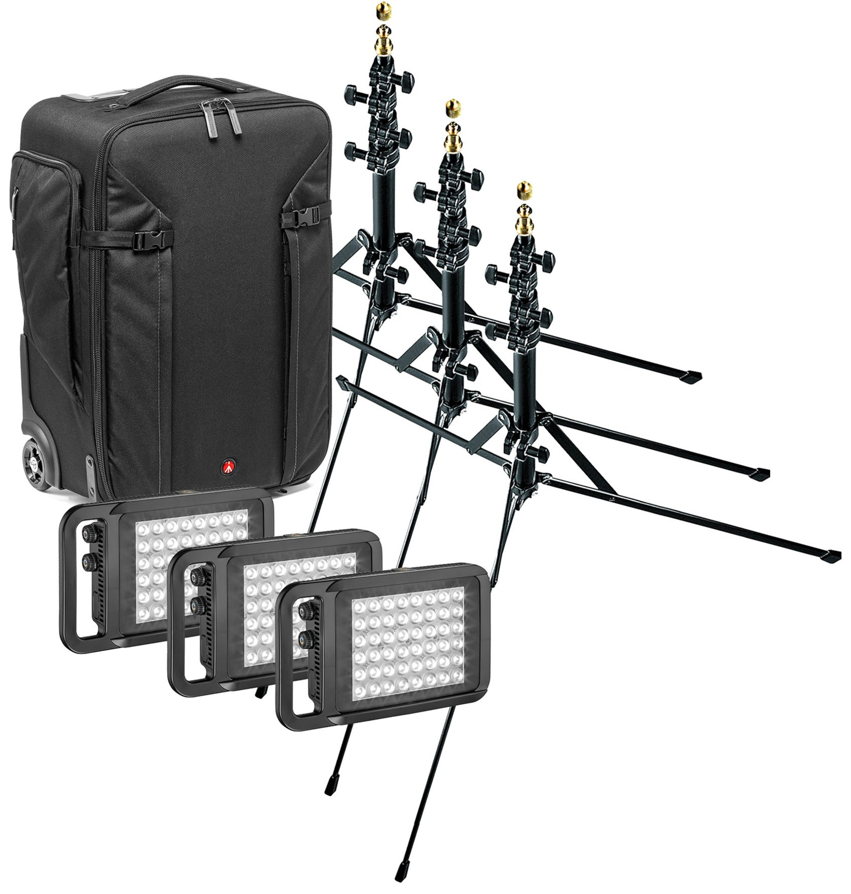 Lykos Travel Lighting Kit Bundle with Bicolor LED Panels, Stands, Bag