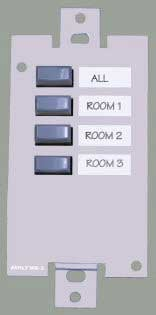 4-Positon Preset Recall Wallplate Remote for Ashly 24.24M
