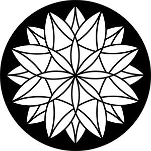 8-Point Star Steel Gobo