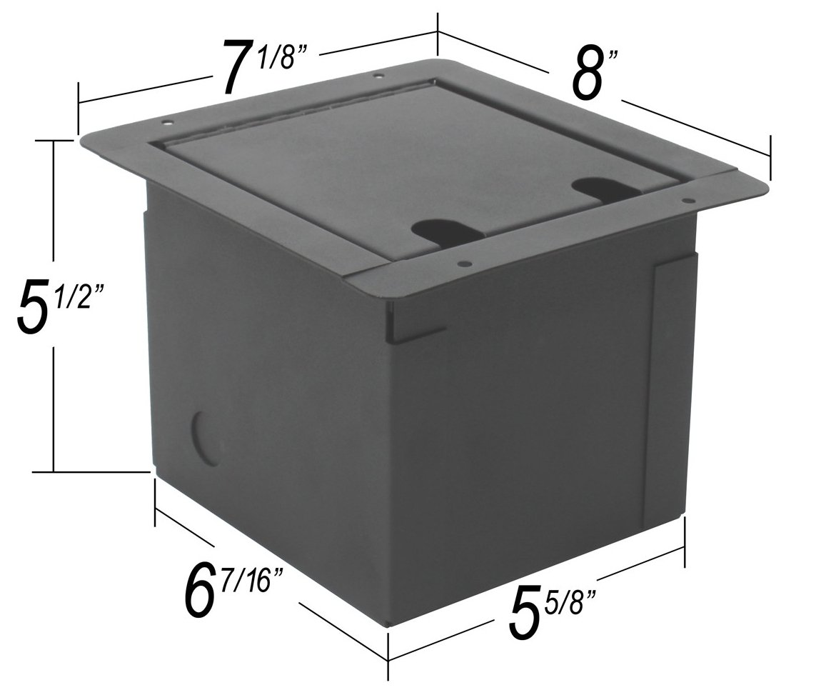Floor Box With 8 XLRF And 2 Speakons