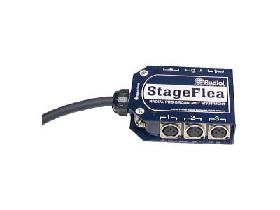 Radial Engineering R487-0804-00  75ft 8x4 StageFlea Snake with XLR returns R487-0804-00