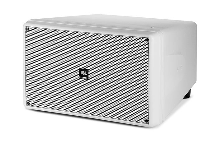 "Dual 10"" Compact Subwoofer, White"