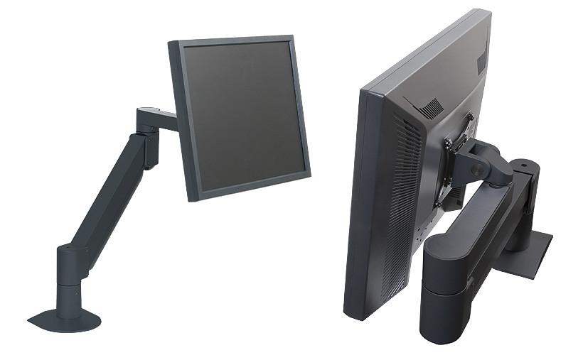 Argosy Consoles MONITOR ARM-S1-B  Black Single Monitor Arm for Monitors 2-13 lb MONITOR ARM-S1-B