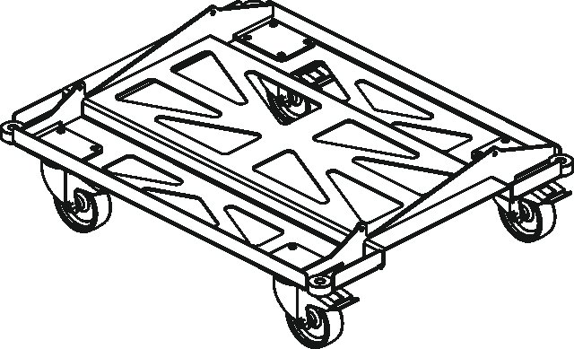 Metal Transport Dolly for Event 208A