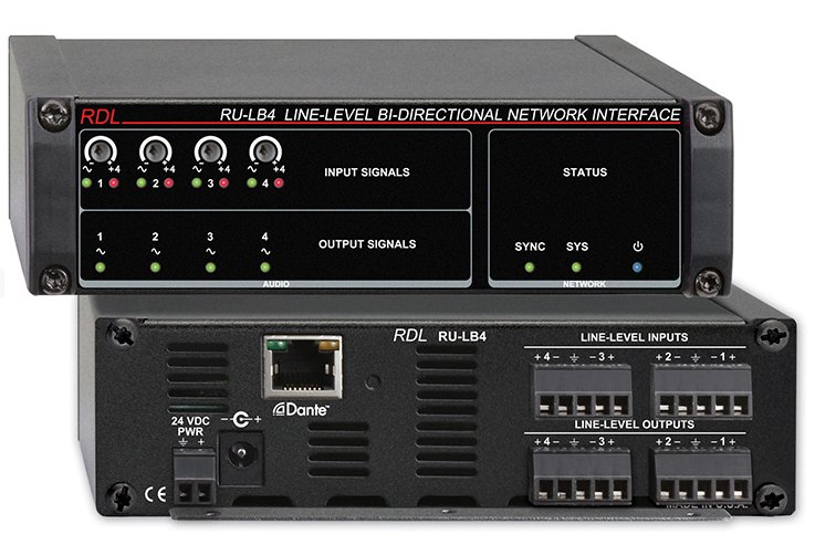 Line-Level, Bi-Directional Network Interface, 4 Balanced Out