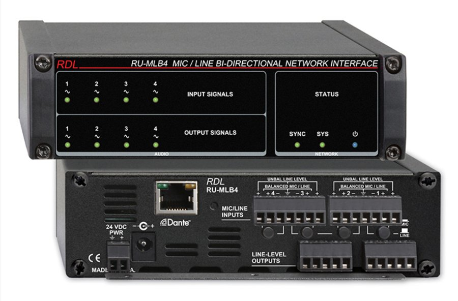 Mic/Line Bi-Directional Network Interface