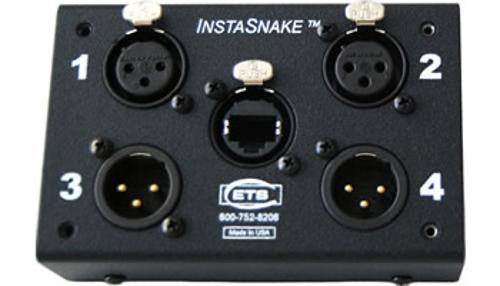 Passive Network Audio Snake, (2) XLR-F + (2) XLR-M to RJ45 Jack