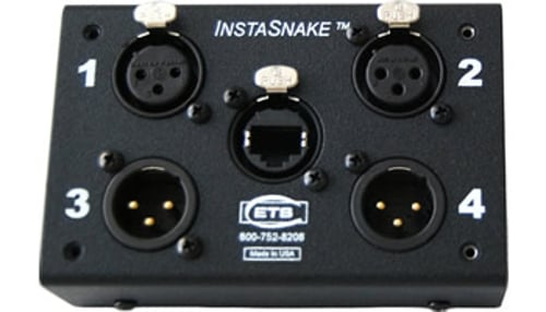 Passive Network Audio Snake, (2) XLR-M + (2) XLR-F to RJ45 Jack