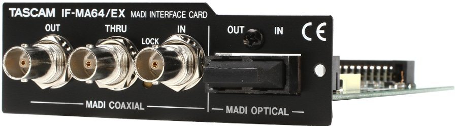 tascam if ma64 ex madi coaxial and optical interface expansion card for da 6400 audio recorder. Black Bedroom Furniture Sets. Home Design Ideas