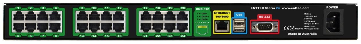 Ethernet to DMX512 Converter