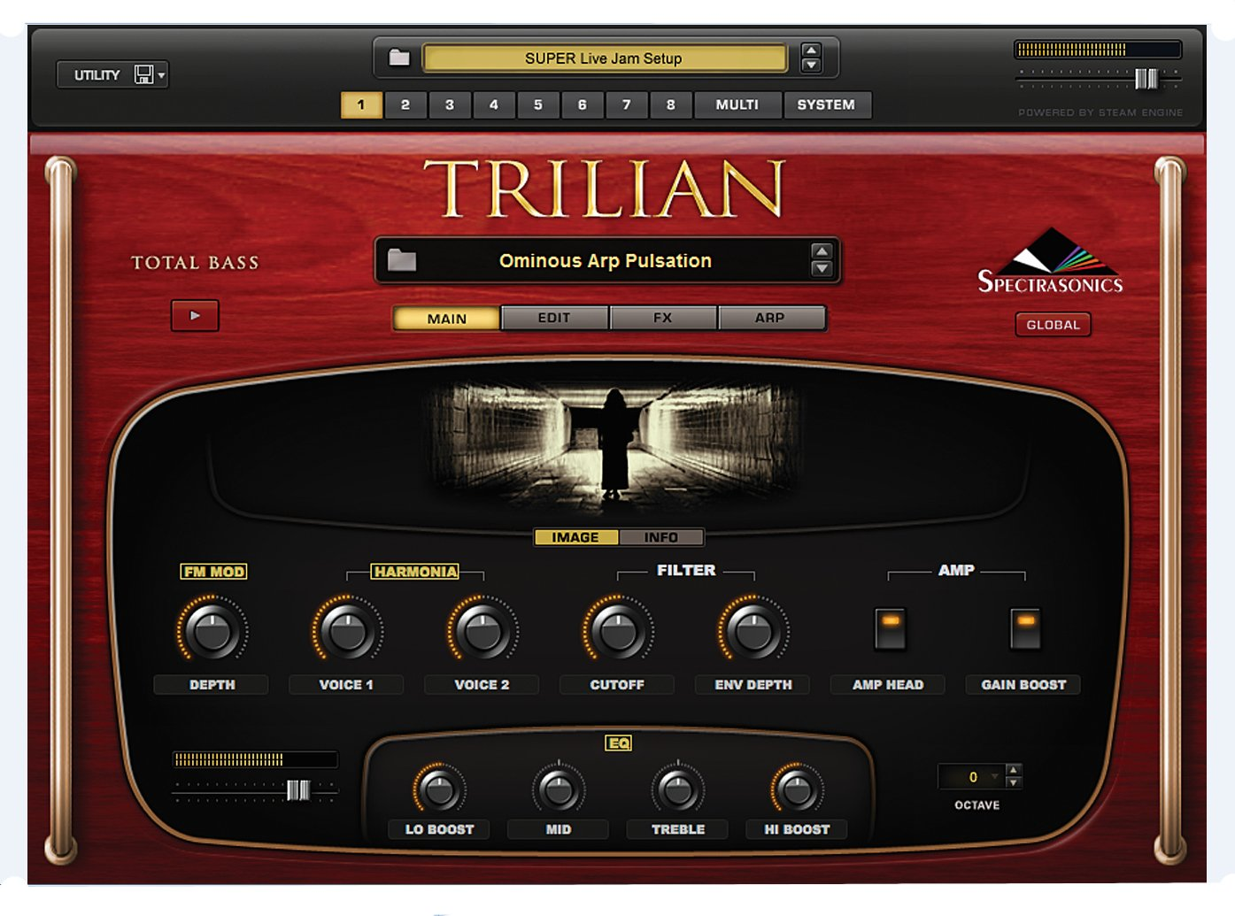 Software - Total Bass Module Virtual Instrument,  Mac/Win, requires AU, VST 2.4, or RTAS capable host software