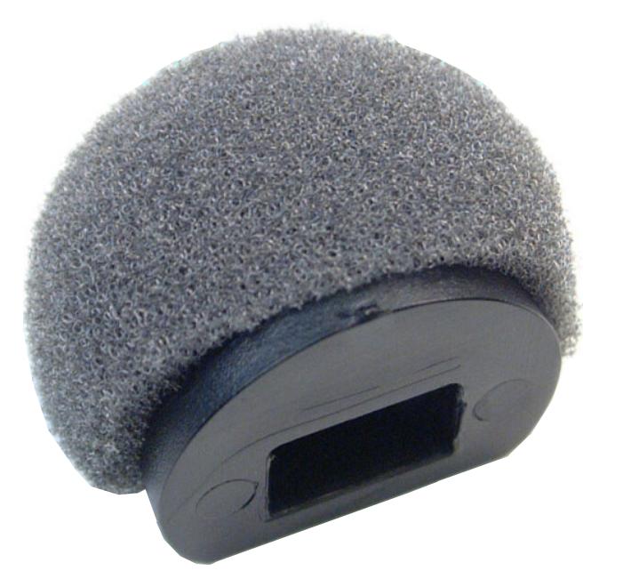 Clip Windscreen Foam With Plastic Frame in Black