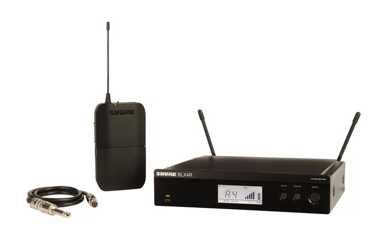 Wireless Guitar System With Rack Mountable Receiver, 542-572 MHz