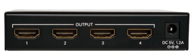 4-Port HDMI Splitter for Video and Audio