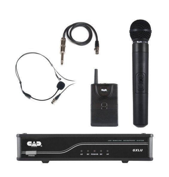 UHF Wireless Combo System- Handheld and Bodypack Microphone System K Frequency Band