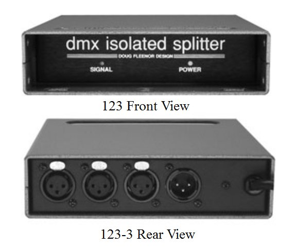 DMX Isolation Amp & Splitter with a 208-240 Volt Option