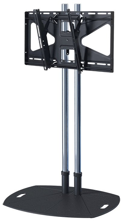 "72"" Chrome Lightweight Floor Stand with Tilt Mount for Large Displays"