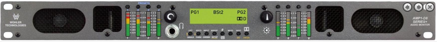 8 Channel, 3G/HD/SD-SDI, Audio Monitor, Dolby AC-3, 1RU