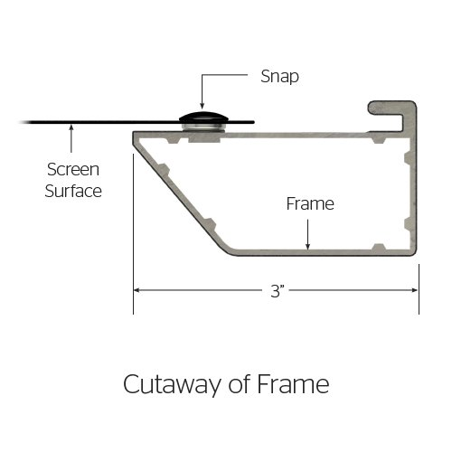 "58"" x 104"" Cinema Contour Screen with HD Progressive 1.1 Surface"