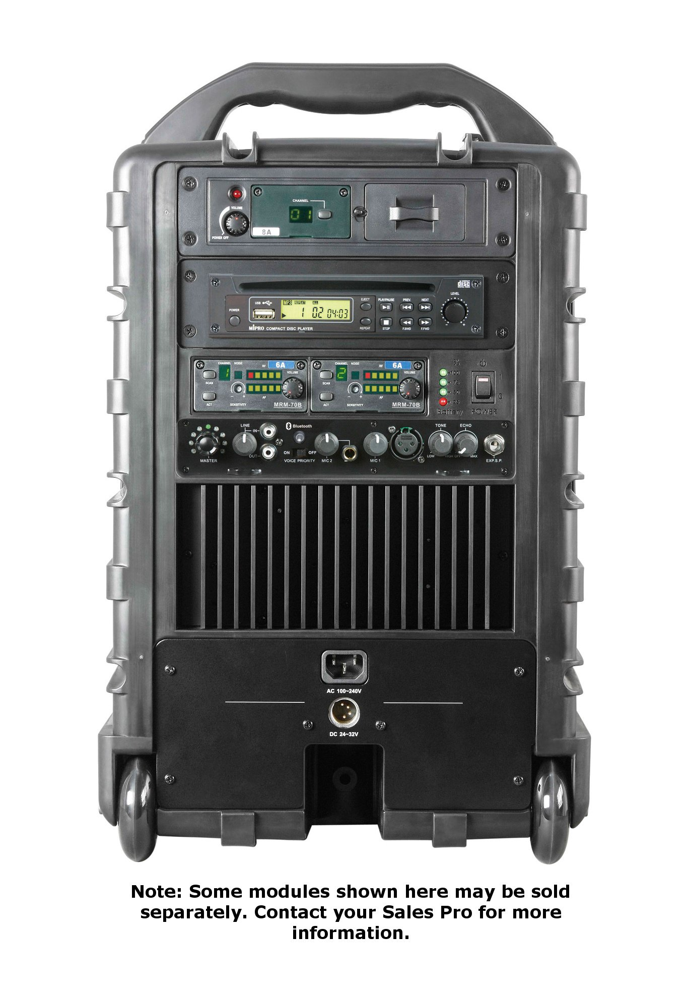 Portable 190-Watt PA Bluetooth System