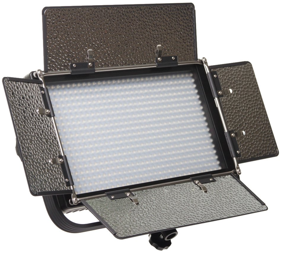 Featherweight Bi-color LED Light with AB and V-Mount Battery Plates