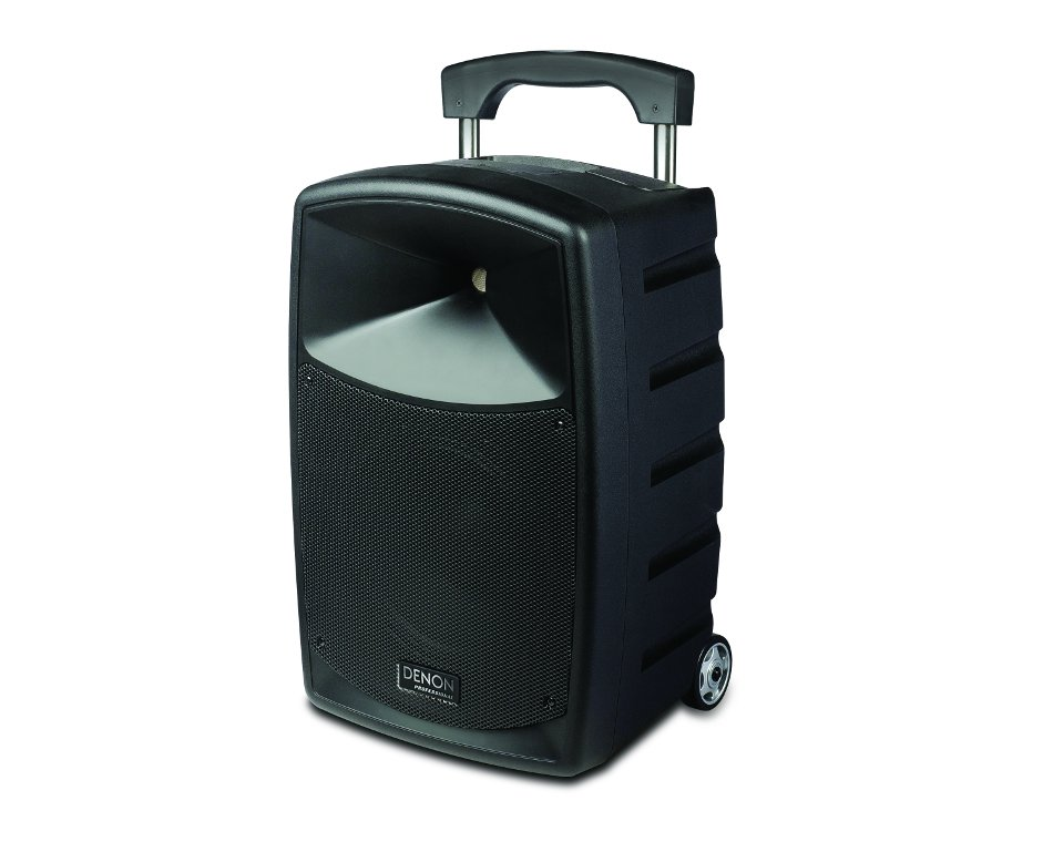 "Portable 2-Way PA System with 10"" Woofer, Rechargeable Battery and Bluetooth Connectivity, and with Wireless Handheld Microphone"