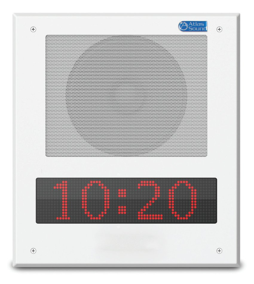 "8"" In-Wall/In-Ceiling, PoE+ Indoor IP Loudspeaker System With LED Display"