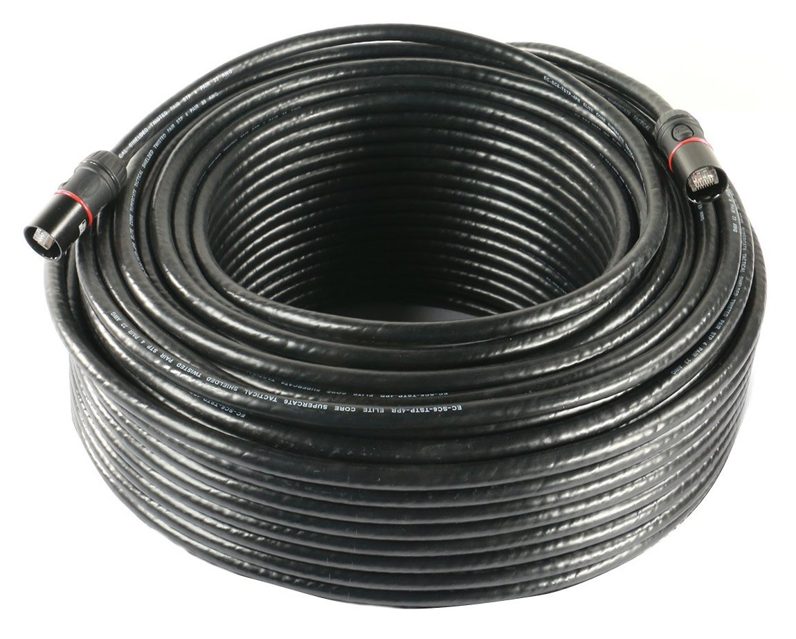 200 ft. Rugged Shielded CAT6 Cable with CS-45 Converta-Shell Connectors