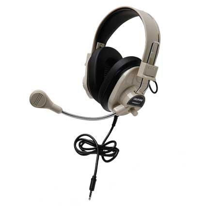 Califone International 3066AVT-10L Classroom 10-Pack Deluxe Stereo Headsets with To Go Plugs 3066AVT-10L