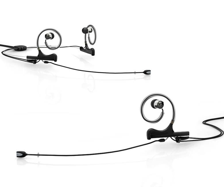 Black d:fine In-Ear Broadcast Headset with 110mm Omnidirectional Boom