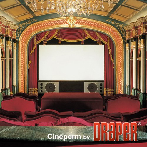 """Draper Shade and Screen 250125 73"""" Cineperm HDTV Pure White Projection Screen 250125"""