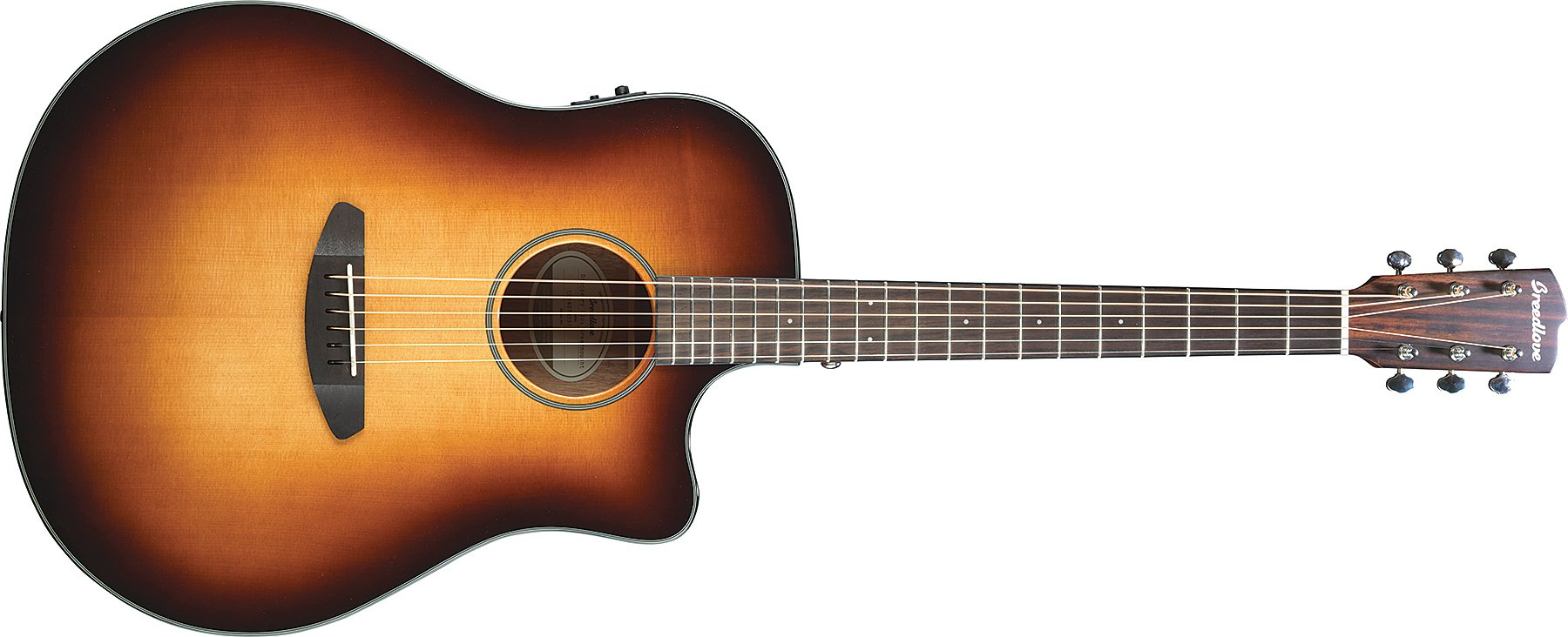 Acoustic-Cutaway Electric Guitar with Sunburst Finish