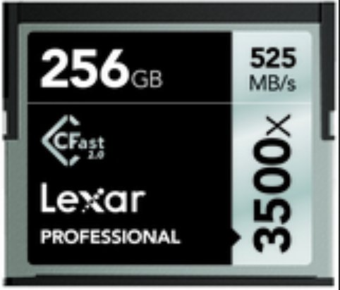 256 GB CFast™ Card, with 525 MB/s Read and 445 MB/s Write