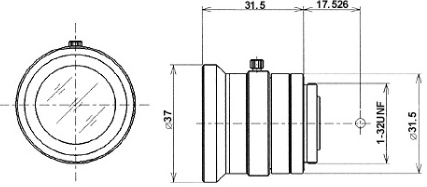 6.5mm f/1.8 High Resolution C-Mount Lens