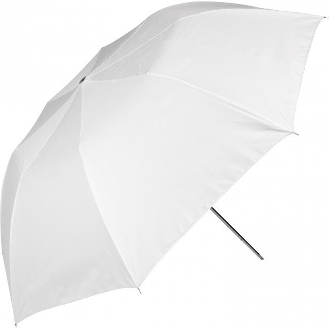 "43"" Optical White Satin Collapsible Umbrella (109.2 cm)"