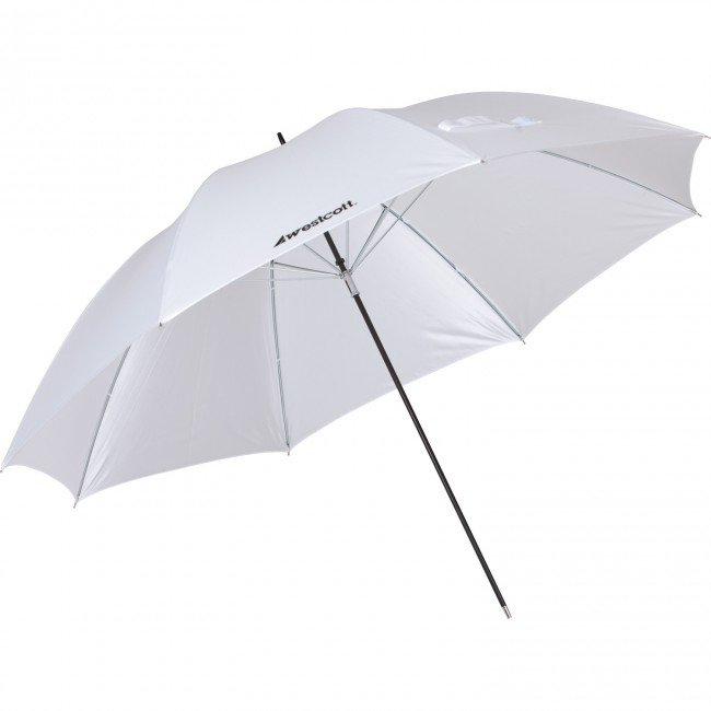 "32"" Optical White Satin Umbrella (81.2 cm)"