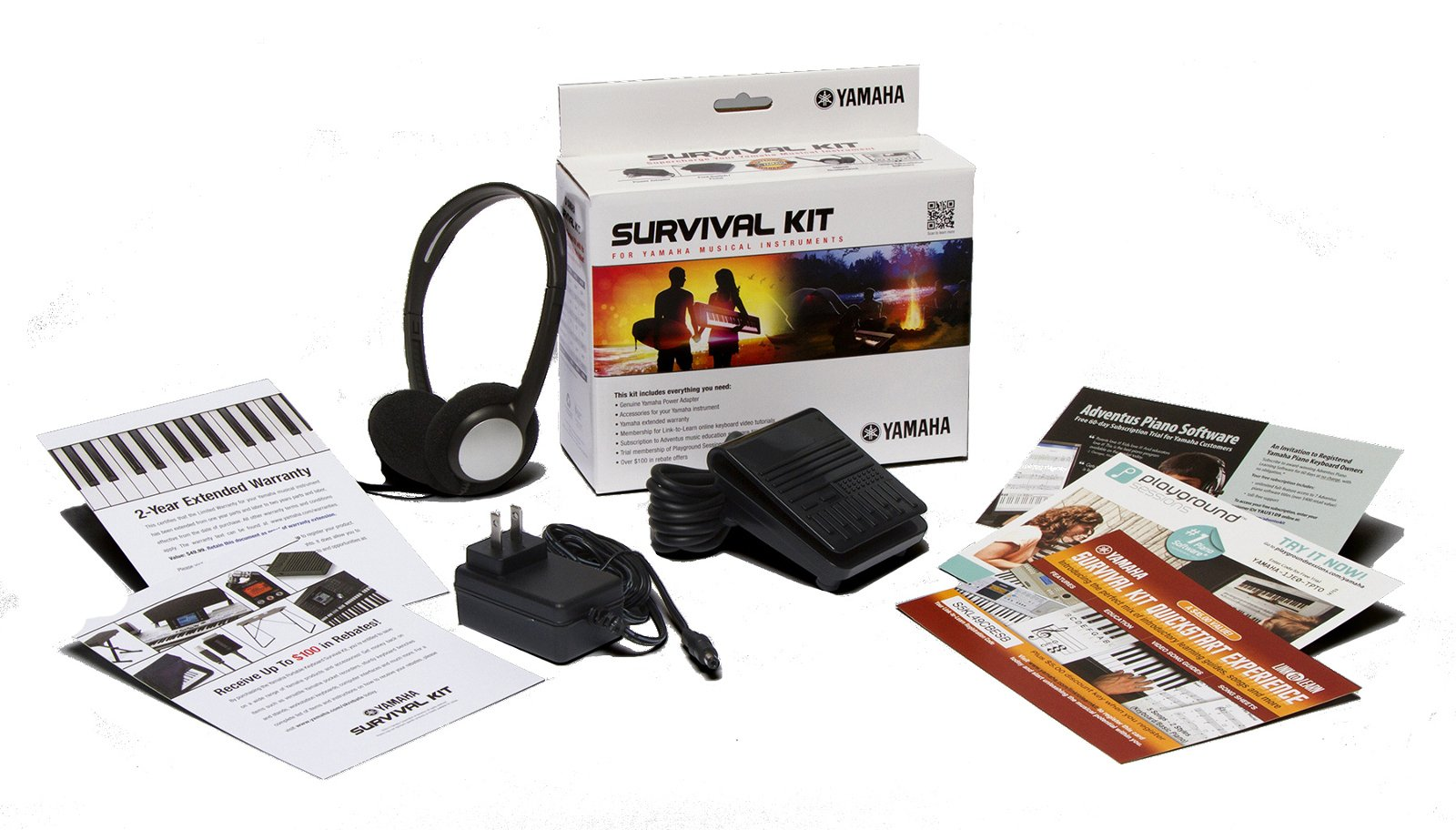 61-key High-Level Portable Keyboard with Survival Kit D2