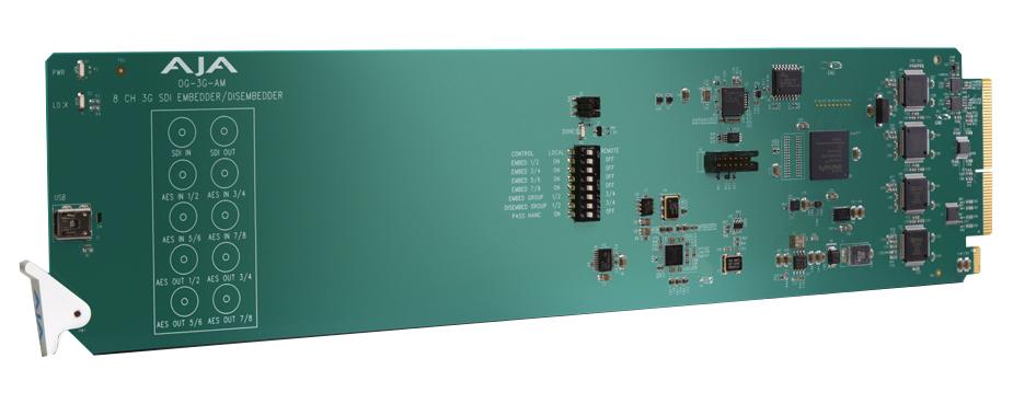 openGear 8-Channel AES Embedder/Disembedder