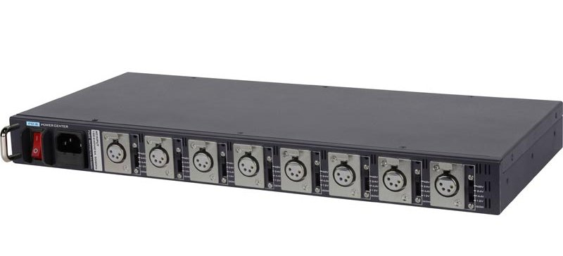 "19"" 1U Rack Mountable Universal AC to DC Power Distribution Center"
