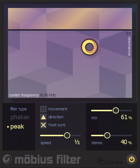 iZotope MOBIUS-FILTER Mobius Filter Vocal Modulation Software Plugin  [VIRTUAL] | Full Compass